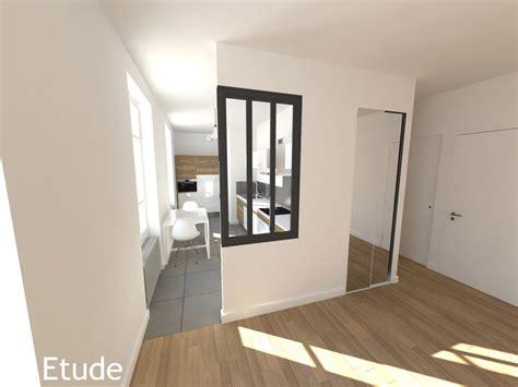 etude cuisine création de deux appartements dans une maison
