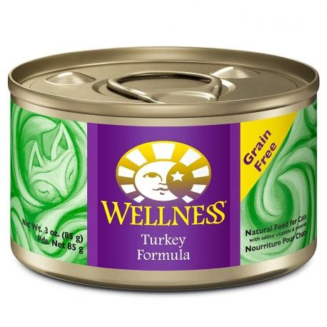 wellness complete health wet canned cat food turkey