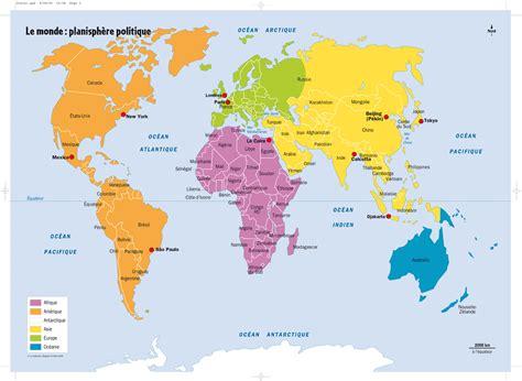 Carte Du Monde Avec Nom Des Pays Et Océans by Carte Du Monde Avec Nom Des Pays Gratuit