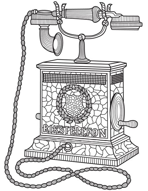 antique telephone colorish coloring app  adults