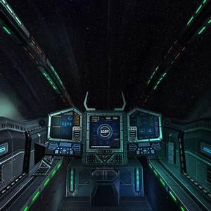 3d model sci fi spaceship cockpit