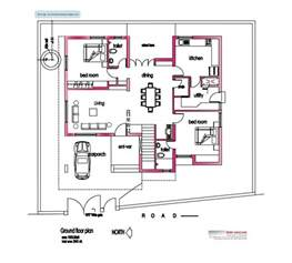 square floor plans modern house plan 2800 sq ft kerala home design and