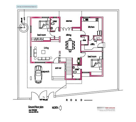 home design layout modern house plan 2800 sq ft kerala home design and