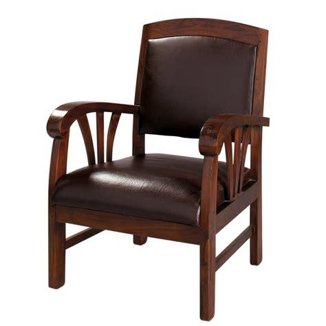 chaise de bureaux fauteuil en cuir marron singapour maisons du monde