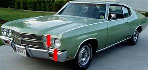 1970 Chevelle Lower Headlight Moldings  Pair