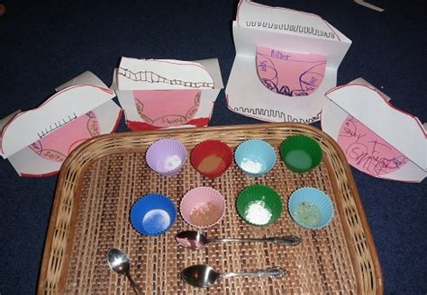 5 senses taste and tongue craft homeschool den 287 | P1210246tasting1