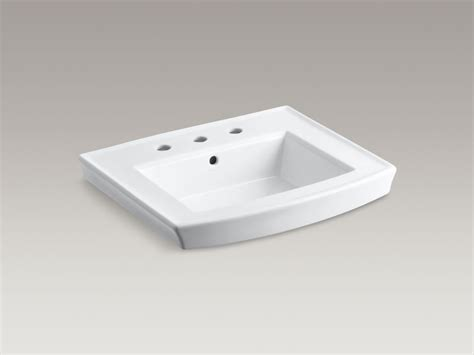 kohler archer 24 inch x 20 1 2 inch bathroom sink pedestal