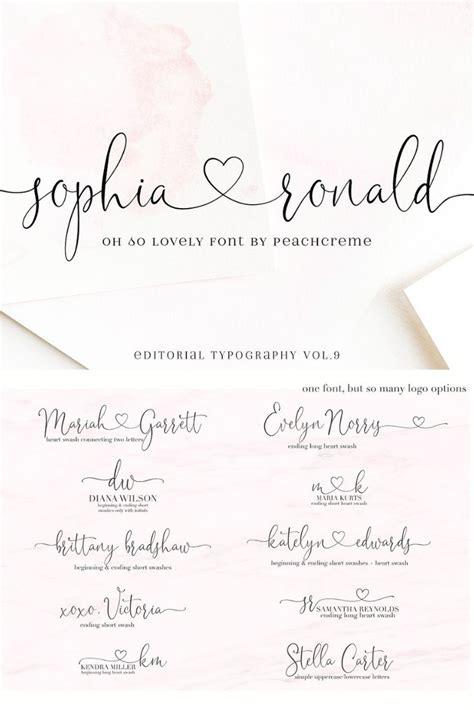 sophia ronald lovely script font  script fonts  calligraphy fonts lettering