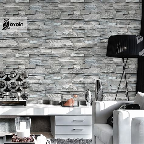 3d Brick Wallpaper South Africa by Aliexpress Buy Grey White Embossed Brick Wall