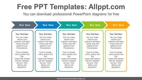 chevron arrow banner powerpoint diagram template