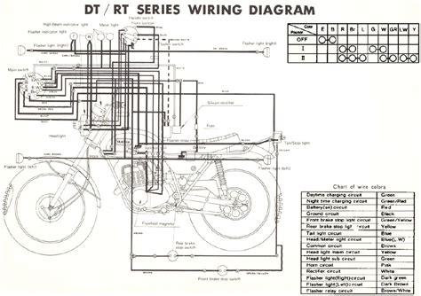 Wiring Diagram Yamaha At 1 by Yamaha Rt1 360 Enduro Motorcycle Wiring Schematics
