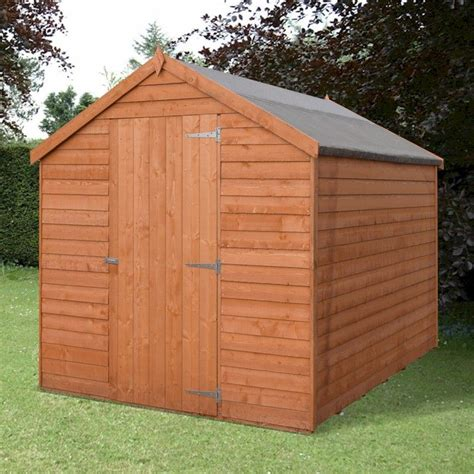 7x5 shed shire value overlap apex shed 7x5 one garden