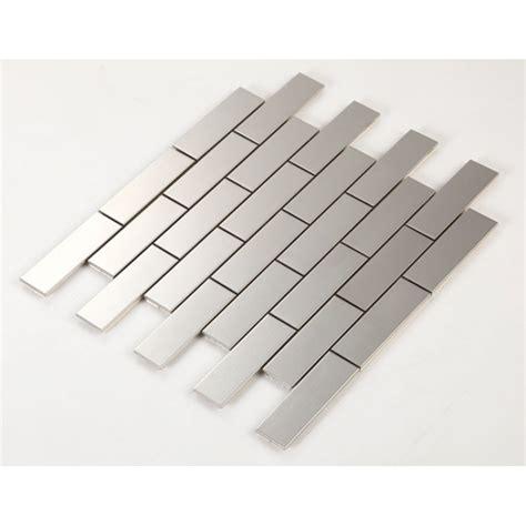metallic subway tile metallic mosaic subway tile grey metal kitchen wall tiles