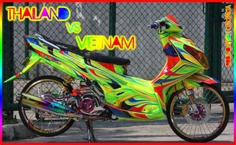 modifikasi motor matic matic drag bike thailand vs vietam yamaha nouvo modification