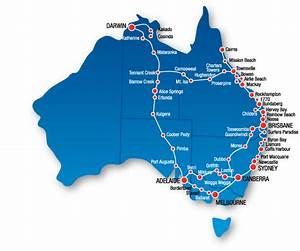 East Coast Australia Map Detailed