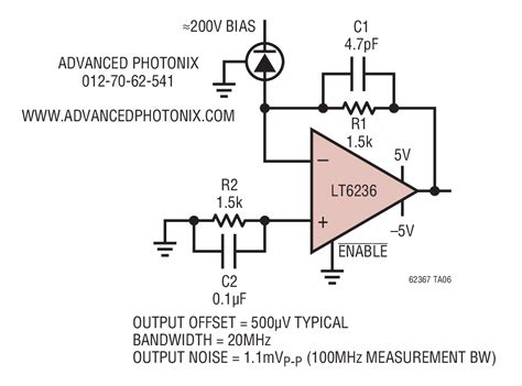 Low Power Avalanche Photodiode Transimpedance