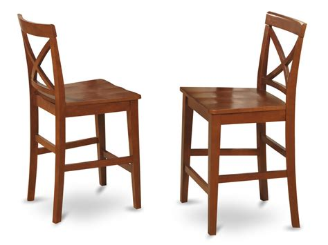 set   kitchen counter height chairs  plain wood