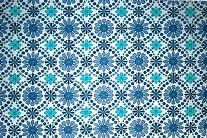 Turquoise Flowers Wallpaper Texture Picture   Free ...