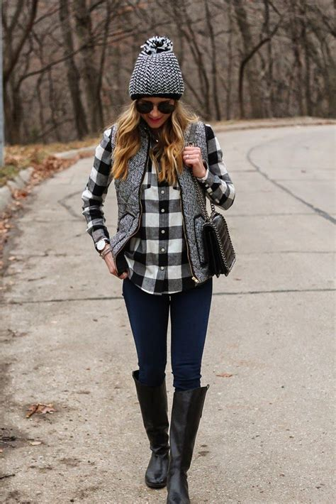 Black And White Flannel Outfit