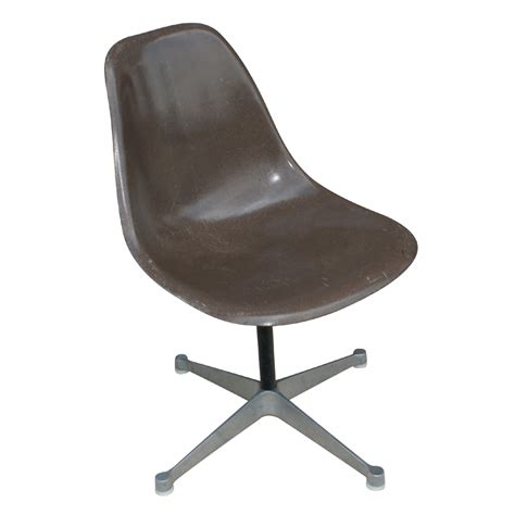 herman miller eames fiberglass side shell chair brown ebay