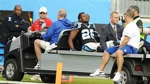 Cornerback Bene Benwikere of Carolina Panthers suffers ...
