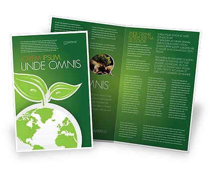 Planet Brochure Template by Green Planet Brochure Template Design And Layout