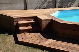 Escalier Pour Piscine Hors Sol : terrasse en bois autour d 39 une piscine ~ Dailycaller-alerts.com Idées de Décoration