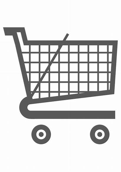Trolley Shopping Coloring Pages Printable