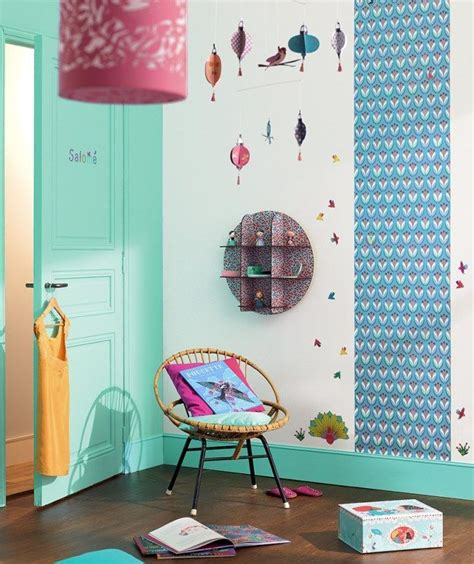 chambre fille deco chambre fille djeco turquoise