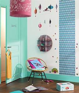 chambre-fille-djeco-turquoise