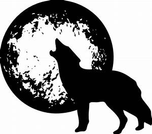 Wolf Howling At Moon Clip Art at Clker.com - vector clip ...