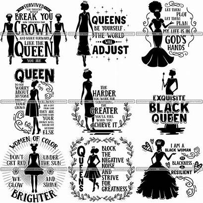 Queen Quotes Svg Strong Melanin Nubian Bundle