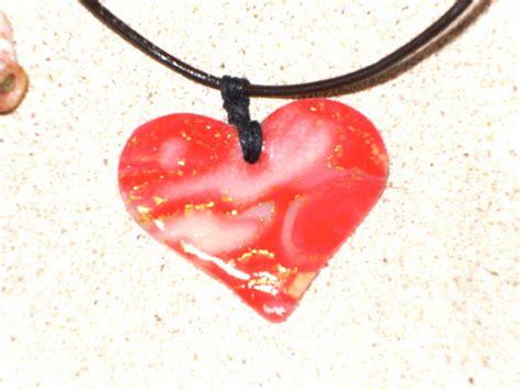 un coeur photo de mes bijoux en p 226 te fimo un petit bout de moi pastelle cr 233 ations