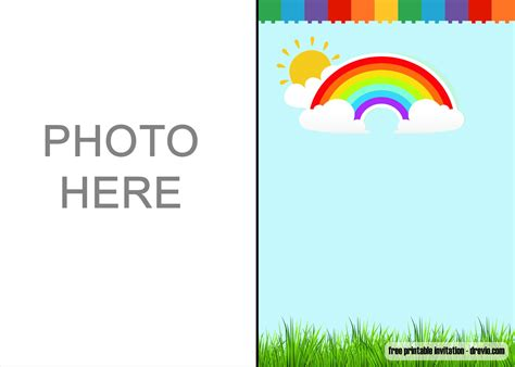 Free Download Rainbow Party Invitations DREVIO