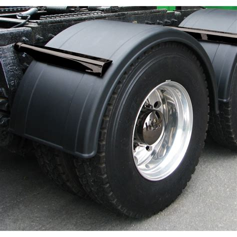 poly single axle fender  rolled edge   od