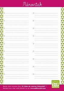 Listes De Courses : mod les de liste de courses imprimer pdf et excel ~ Nature-et-papiers.com Idées de Décoration