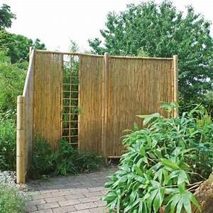 Sichtschutzwand Bambus Sichtschutzelement ZEN Spalier