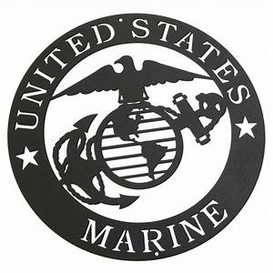 Marines Corps Emblem Metal Silhouette 3025 - Free Shipping