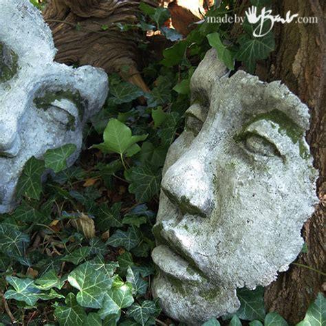 buy garden sculptures diy concrete face garden sculpture mold made by barb easy mold making of your face sculpture