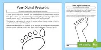 your digital footprint worksheet activity sheet computing