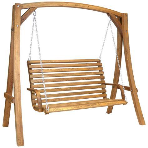Wooden Swing by Wooden Garden Swing Bench Savvysurf Co Uk