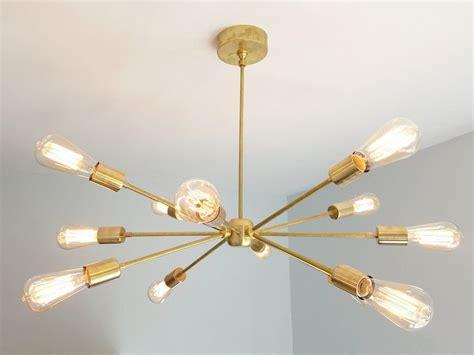 Modern Brass Chandelier by Elsie Chandelier Large Modern Brass Or Chrome Sputnik