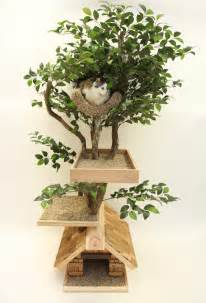 medium cat tree house