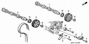 Genuine Honda Bolt Timing Belt Idler 14551
