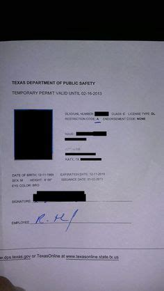 drivers permit texas temp   fake documents