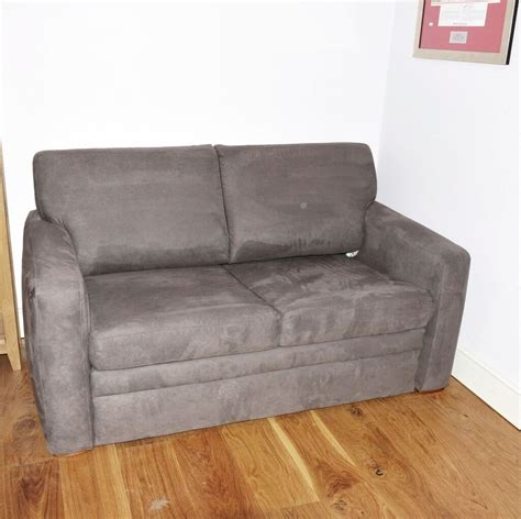 bed settee lewis lewis 2 seater sofa bed chenille faux suede grey