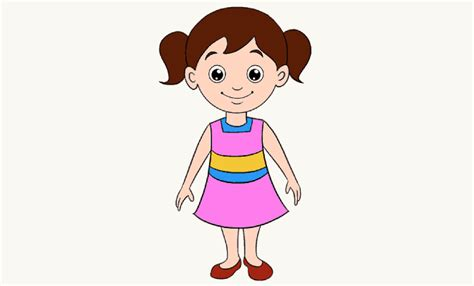 draw  cartoon girl    easy steps easy