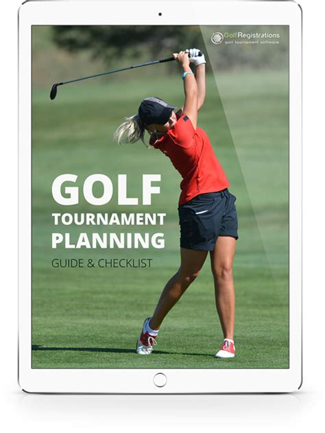 golf tournament planning guide checklist golfregistrations