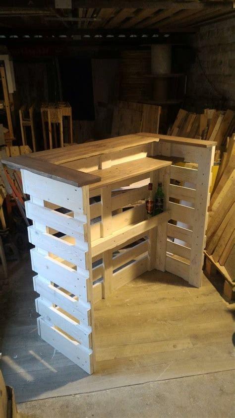 gartenbar selber bauen mini bar en bois de palettes in 2018 tresen