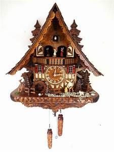 cuckoo clock black forest quartz german music quarz chalet ...